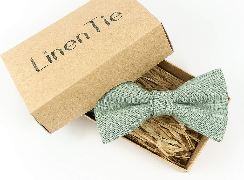 groomsmen necktie linen bow tie wedding necktie Bluch pink color linen necktie green bow tie for men