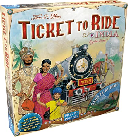 Days Of Wonder - Juego de tablero, 2 a 4 jugadores, mapas de India y Suiza (DOW720114) (versión en Italiano): Amazon.es: Juguetes y juegos