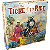 Ticket to Ride India Board Game EXPANSION   Family Board Game   Board Game for Adults and Family   Train Game   Ages 8+   For