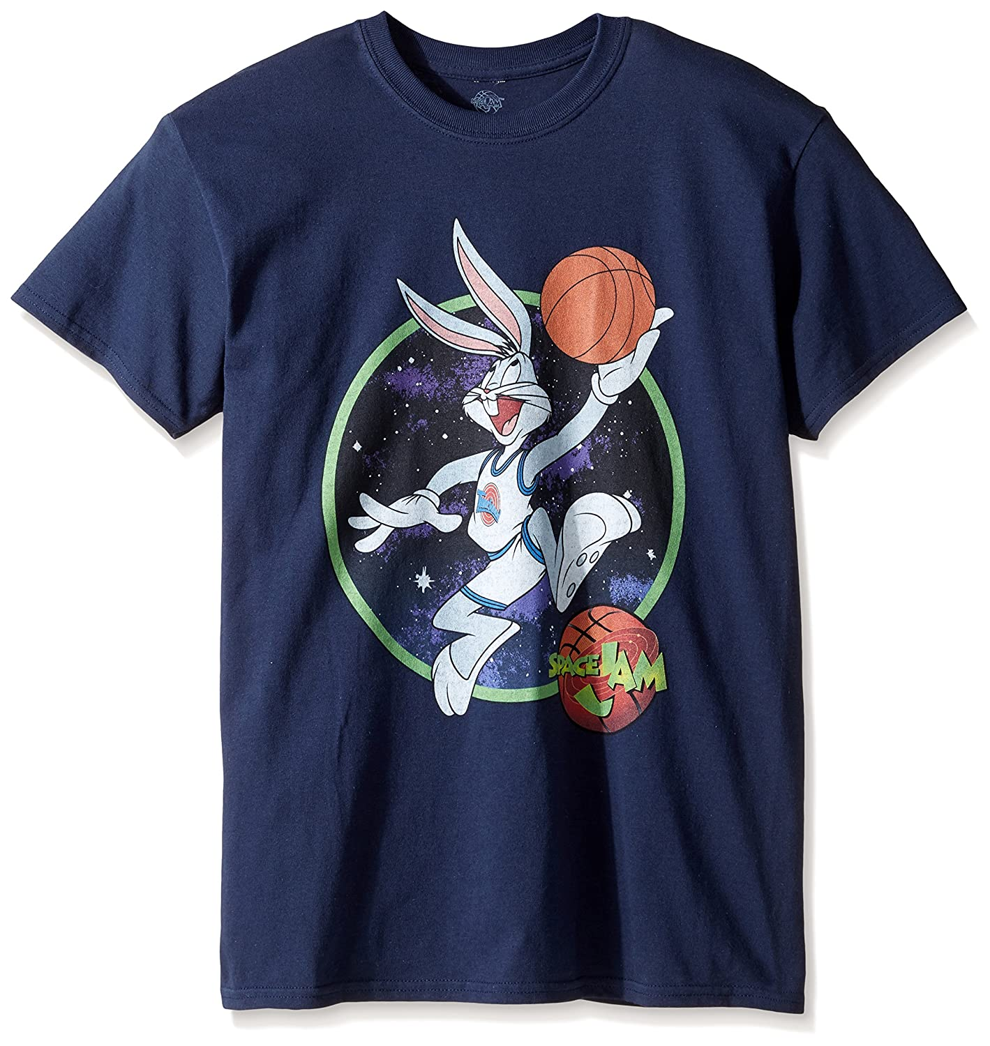 9417aaad766f10 Amazon.com  Warner Bros Warner Brothers Men s Bugs Dunk Space Jam T-Shirt   Clothing