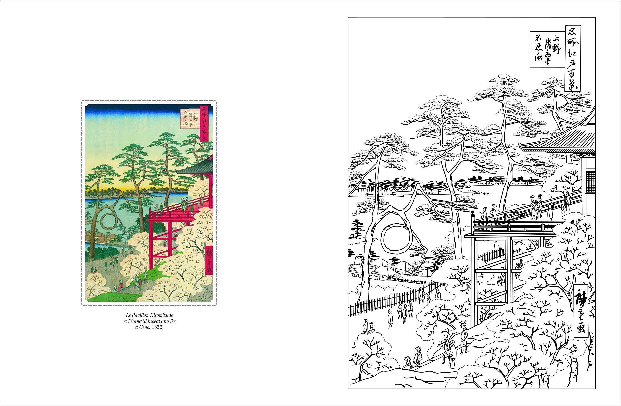 Amazon Cahier de coloriages Paysages du Japon Collectif Livres
