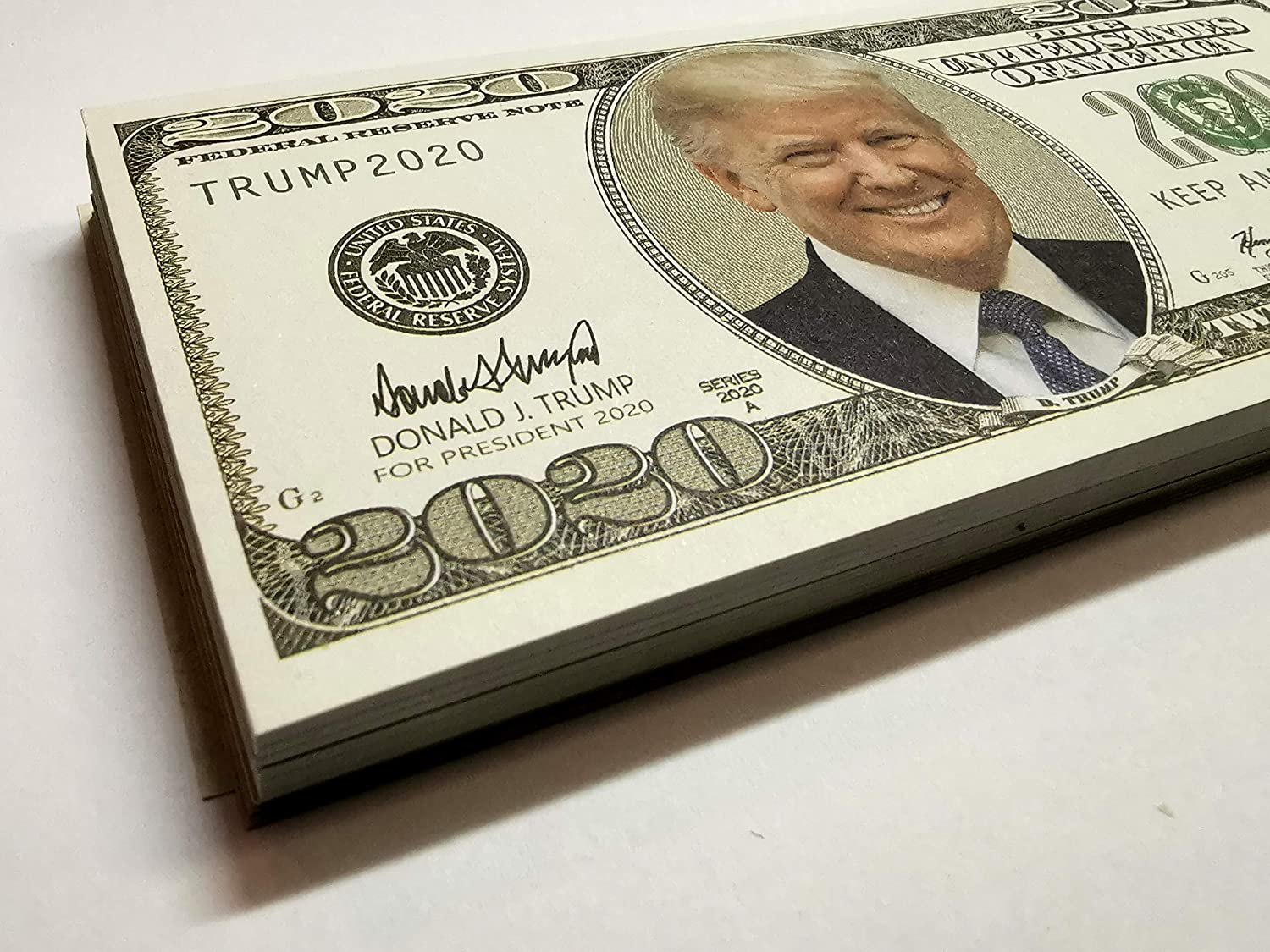 President Re-Election Limited Edition Collection Pack of Keep America Great NinoStar 500 pcs of Donald Trump 2020 Dollar Bill