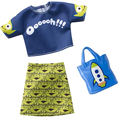 Barbie Toy Story Clothes: Alien Top & Skirt, Rocket Purse: Toys & Games