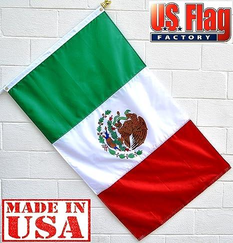 6fb6b8a9da27 Amazon.com   US Flag Factory 3 x5  Mexico Mexico Flag (Sewn Stripes) Outdoor  SolarMax Nylon - Made in America   Garden   Outdoor