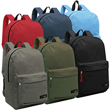 98f721f5b4d Wholesale 16.5 Inch Backpacks - Case of 24 Multicolored MGgear Bulk School  Bags