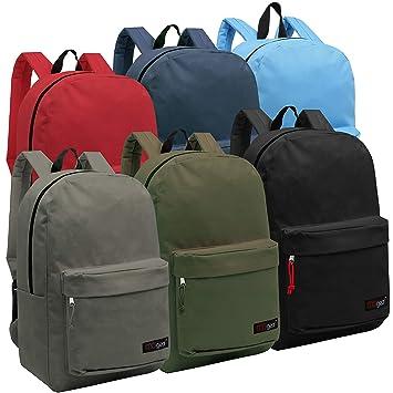 Wholesale 16.5 Inch Backpacks - Case of 24 Multicolored MGgear Bulk School  Bags 7502822c226fc