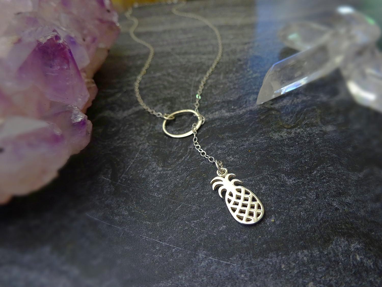 Silver Colored Y Style Lariat Choose Happy 20 Necklace