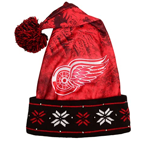 27f9630ab52cd Amazon.com : Detroit Red Wings Light Up Santa Hat : Sports & Outdoors