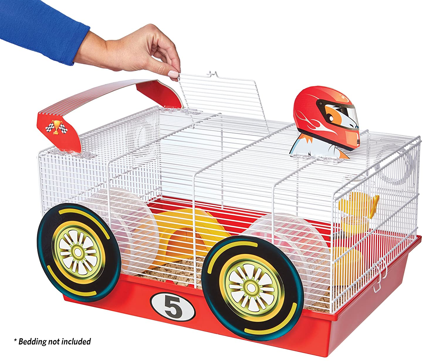 Amazon.com : MidWest Homes for Pets Hamster Cage | Fun Race Car Theme | Accessories & Decals Included : Pet Supplies