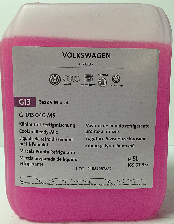 d0228778fb8 Original VW G13 Engine Coolant Ready-Mix J4, 5 liters: Amazon.co.uk: Car &  Motorbike
