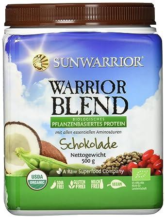 Sunwarrior Warrior Blend Schokolade, neue Formel, Bio-Qualität, 1er ...