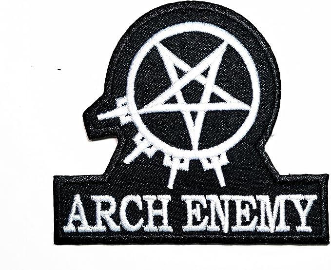 Blanco Negro Arco enemigo música banda Heavy Metal Punk Rock Logo ...