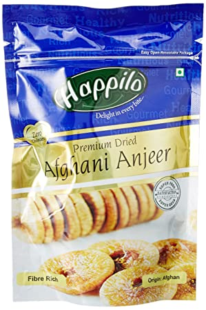 Happilo Premium Dried Afghani Anjeer, 200g (Pack of 5)