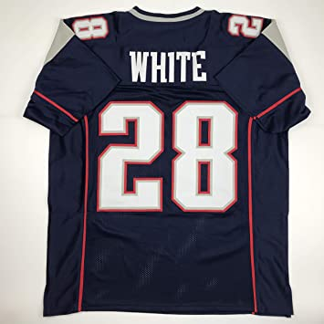 size 40 6c41a 15758 Unsigned James White New England Blue Custom Stitched Football Jersey Size  XL New No Brands/Logos