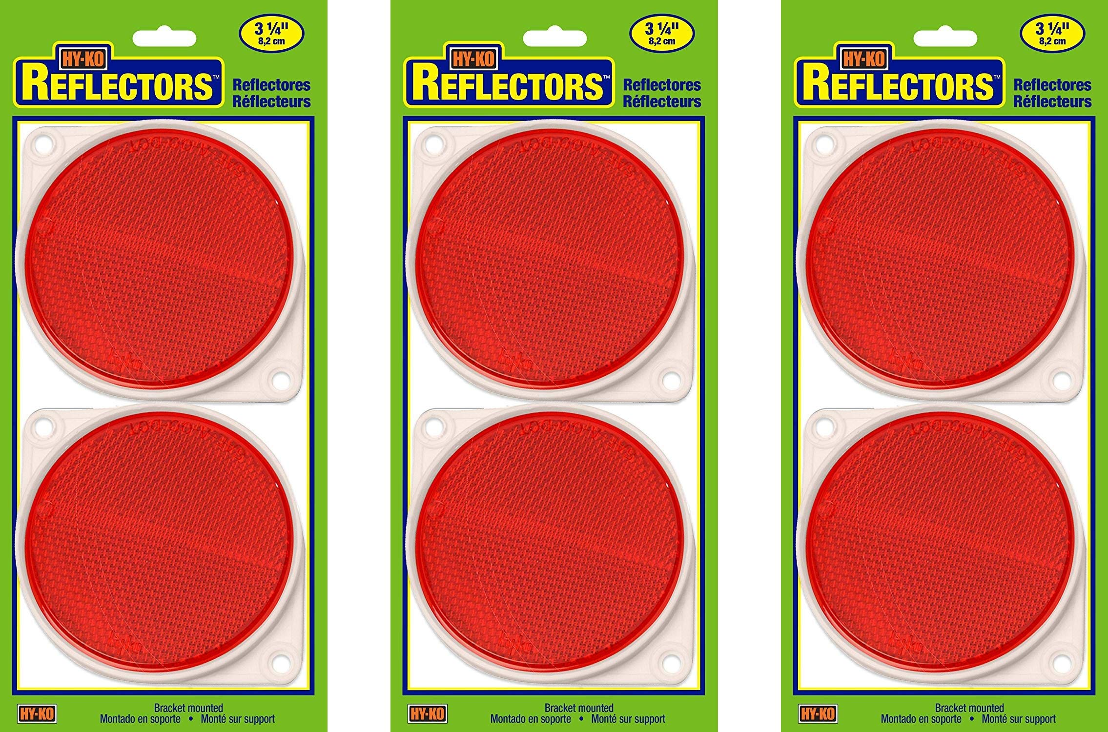 Hy-Ko Products CDRF-3R Nail On Reflector 3'' Diameter Red, 1 Piece (Red, Тhrее Pаck)