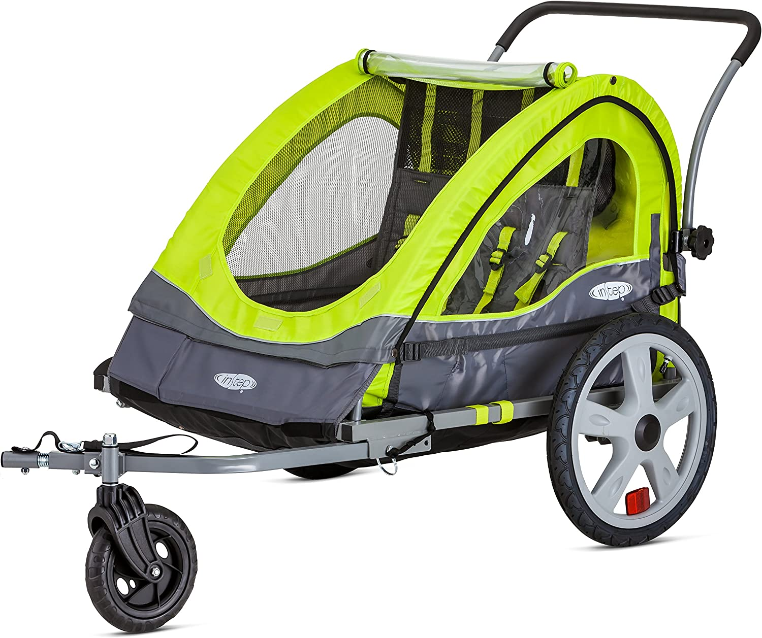 best bike trailer for kids: Instep Quick-N-EZ Double Tow Behind Bike Trailer