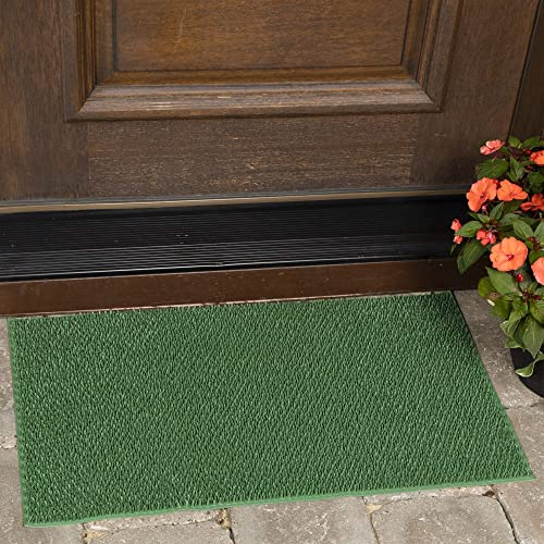 Ottomanson Rubber Doormat, 18 X30 , Green