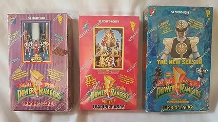 Amazon Com Mighty Morphin Power Rangers Series 2 Trading Cards Box