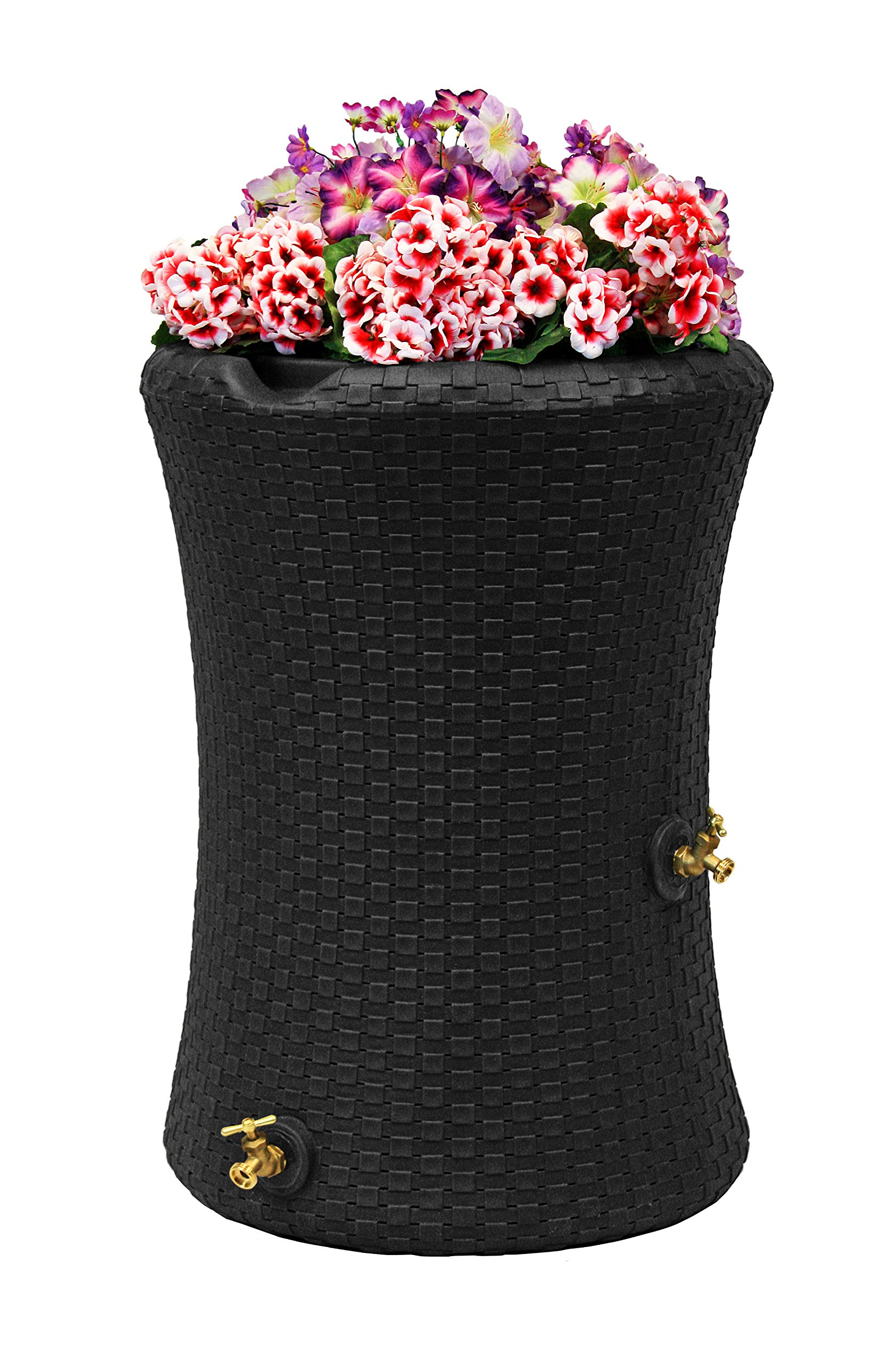 Good Ideas IMP-N50-BLK Impressions Nantucket Rain Saver Rain Barrel, 50 Gallon, Black by Good Ideas