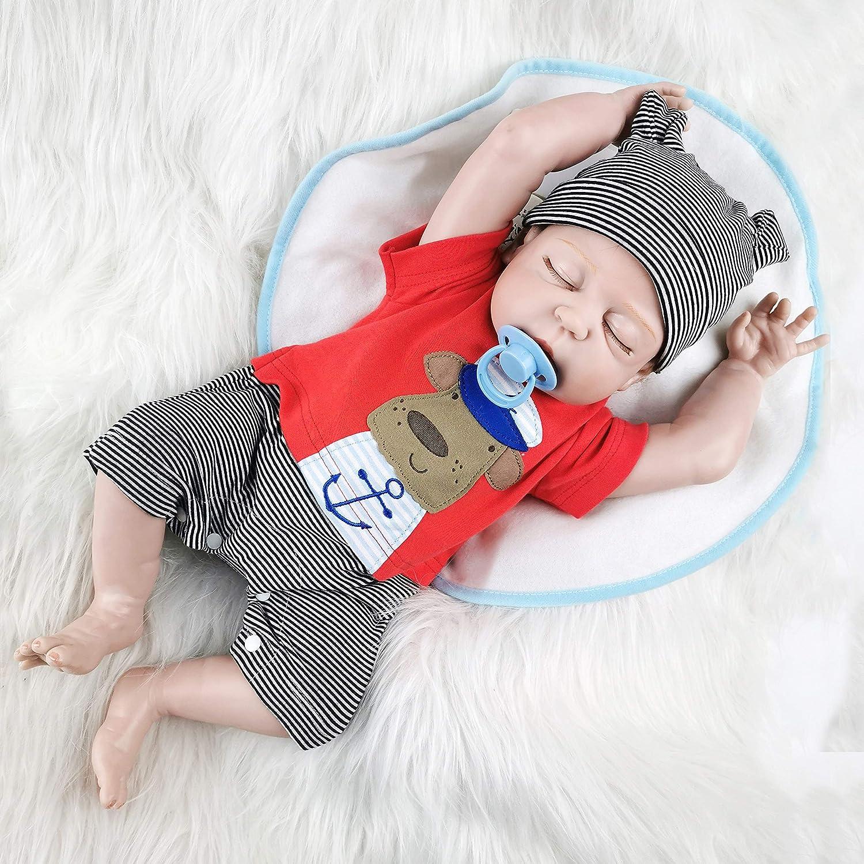 ZIYIUI 20Zoll 50CM lebensecht Reborn Puppen Babys Junge silikon Vinyl doll g/ünstig Magnetisches Spielzeug Handgemachte Neugeborenen Geschenke Realistische Spielkameraden Spielzeug