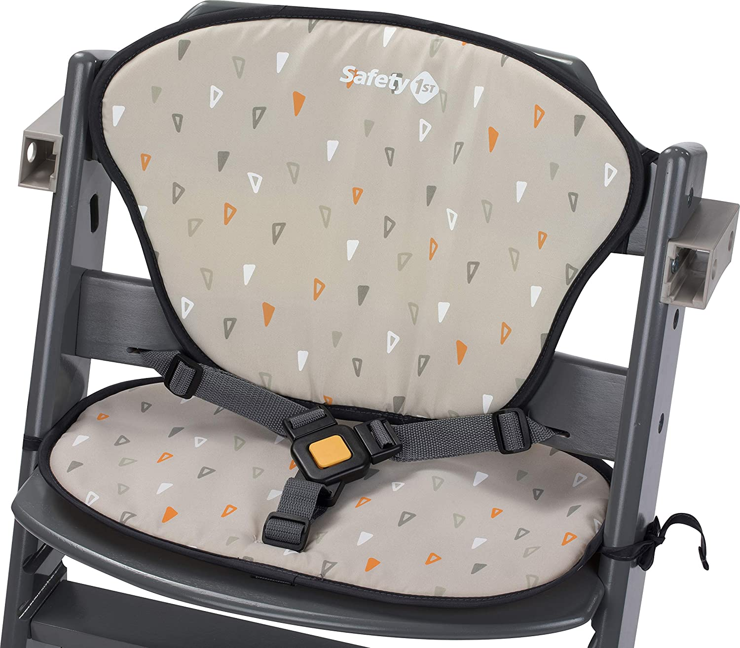 Safety 1st Timba Chaise Haute Bois Gris//Coussin Rouge