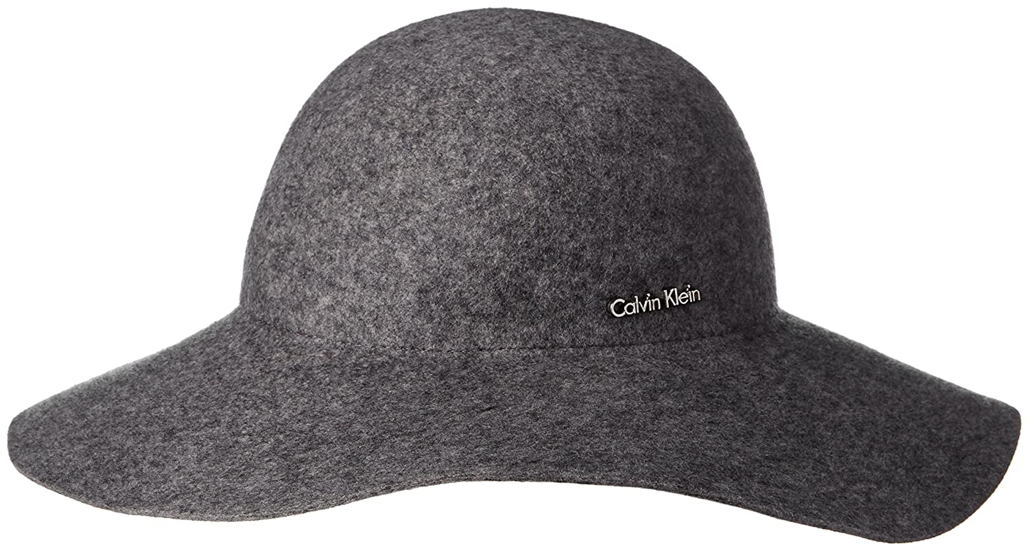 106347c3885 Calvin Klein Women s Wool Felt Floppy Hat with Logo Plate
