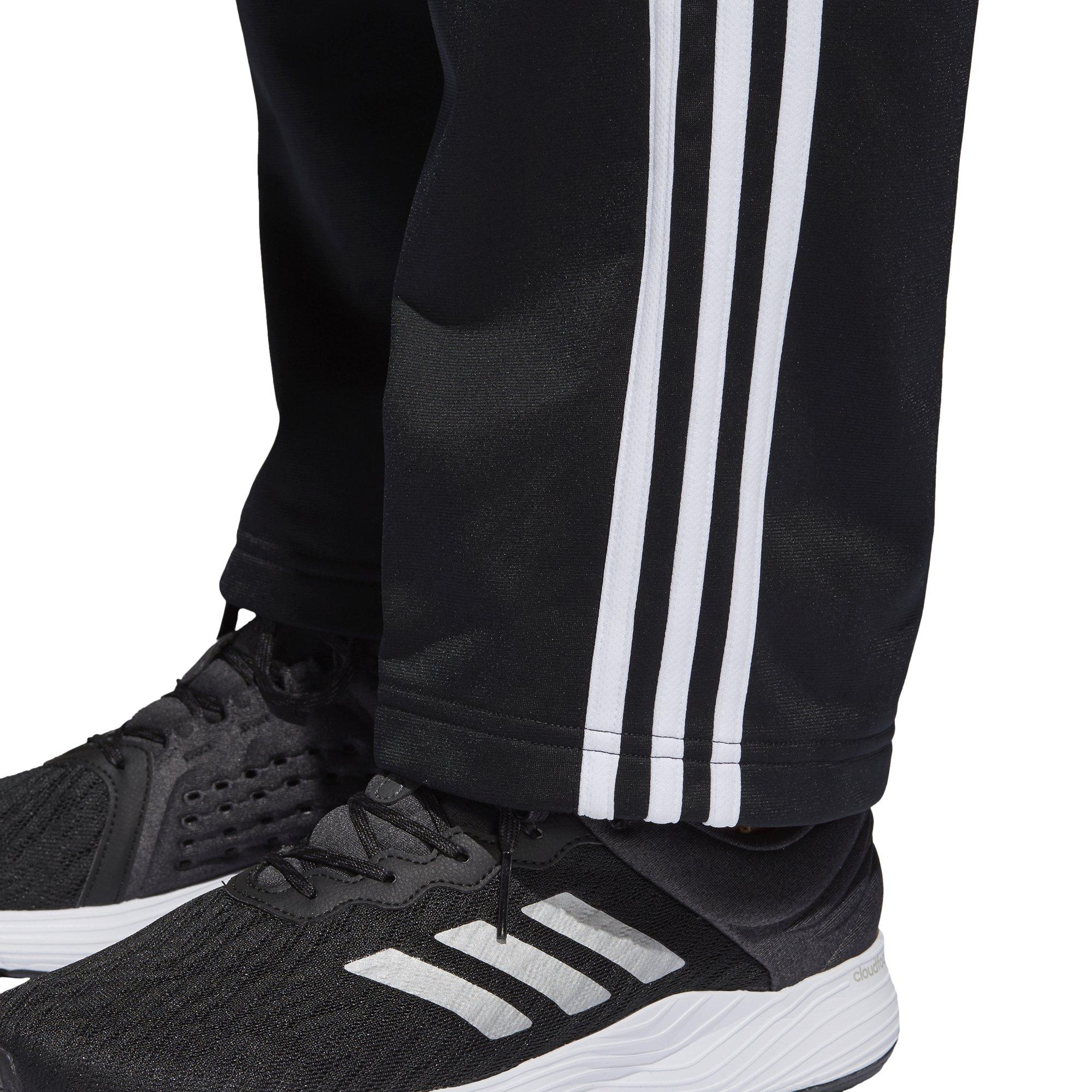 adidas Men's Athletics Essential Tricot 3-Stripe Pants, Black/White, Small by adidas (Image #8)