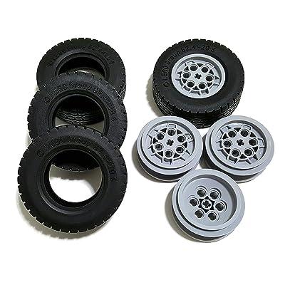 LEGO Tire Ø62.4 x 20 w/ Rim Ø 43,2 X 18 - Pack of 4 each (86652) (32020 / 75999): Toys & Games