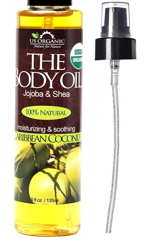 amazon com us organic group caribbean coconut body oil 5 ounce