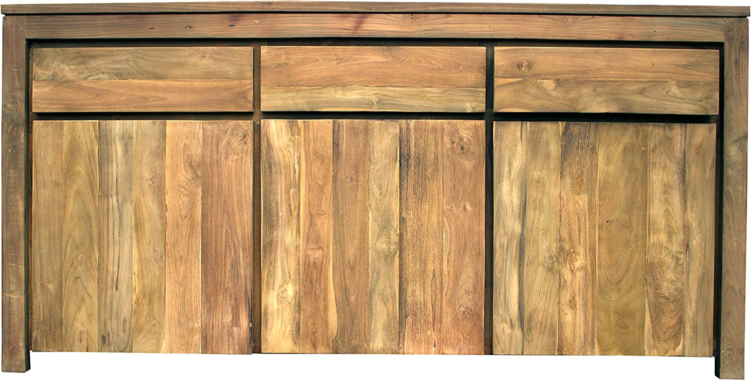 Dresser with 3 Doors 3 Drawers Made by Chic Teak Recycled Teak Solo Buffet Storage Cabinet