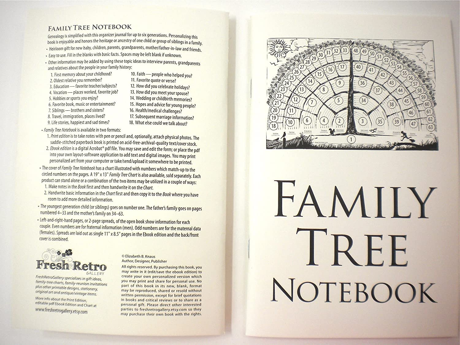 amazon com family tree notebook 2 books per order gifts for baby