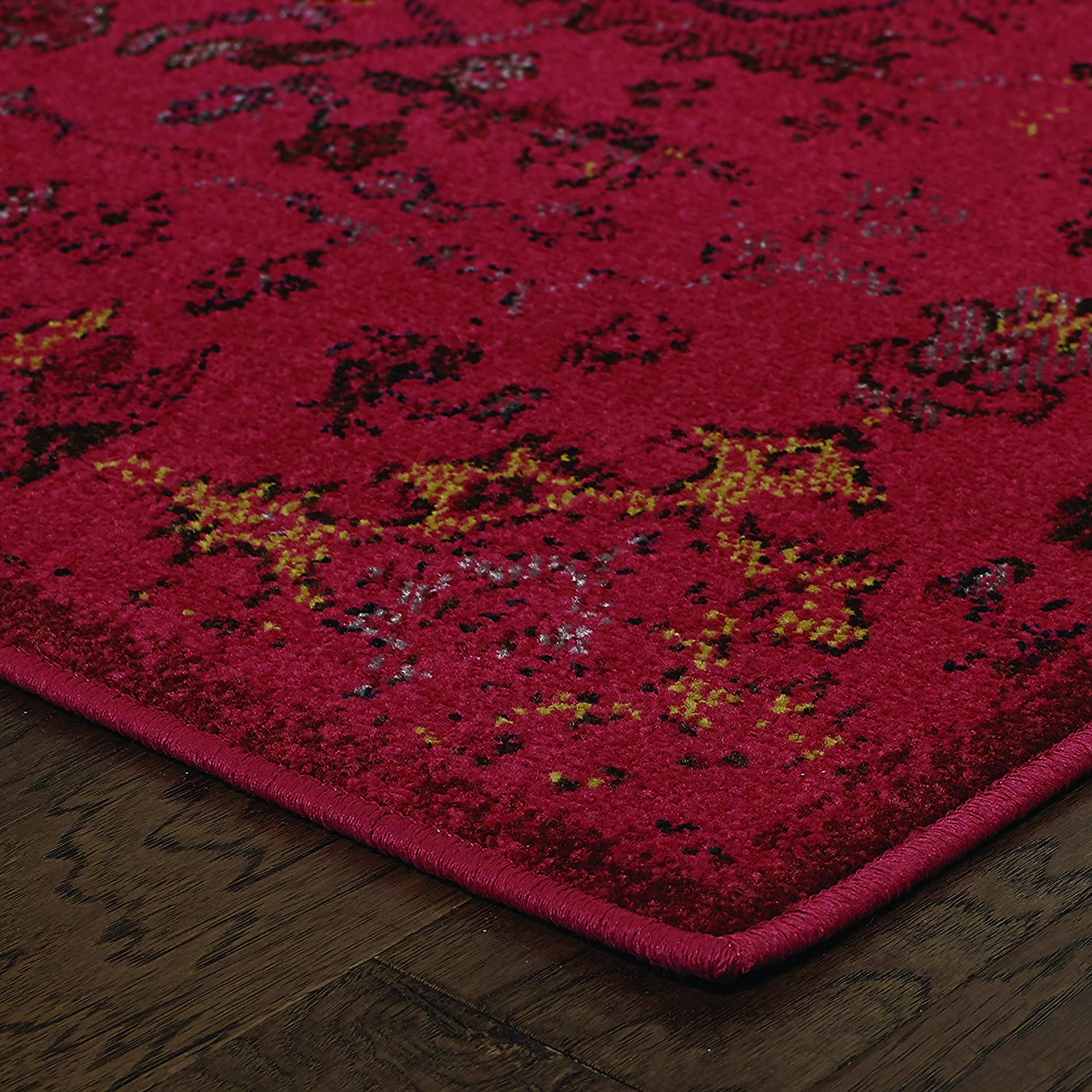 Christopher Knight Home CK-H2963 Reign Vintage Indoor Area Rug 7ft 10in X 10ft 10in Pink,Charcoal