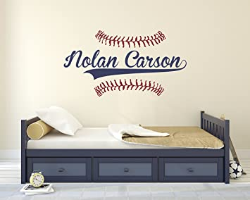 Personalized Name Baseball Wall Decal   Bedroom Wall Decals   Nursery Wall  Decals   Boys Baseball