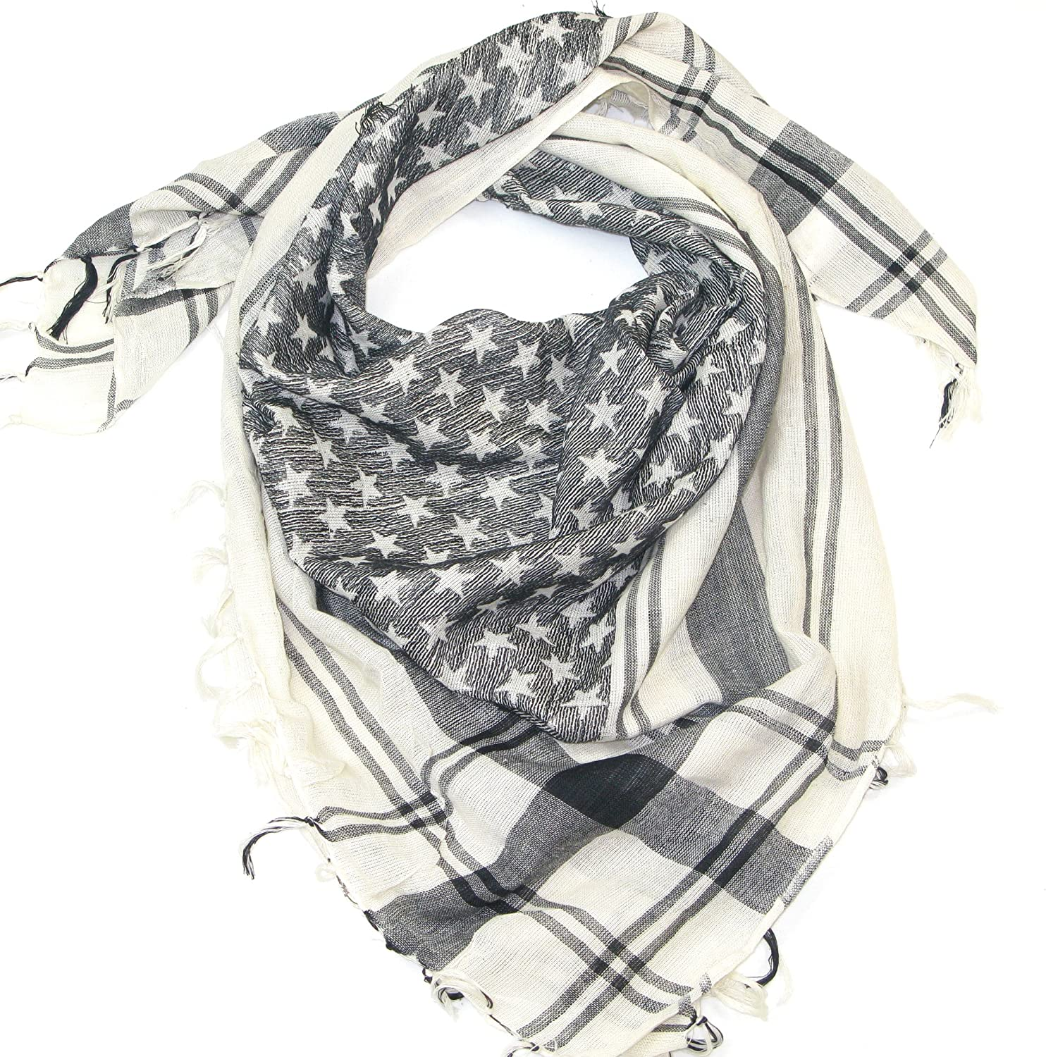 United States flag colours or black and white Desert Scarf Lovarzi Star Scarf