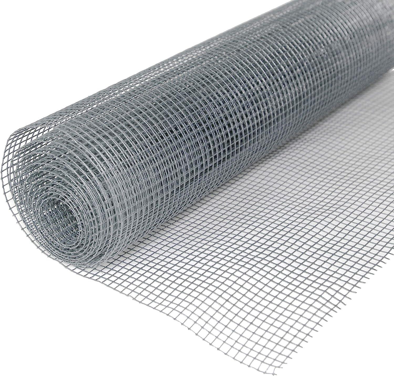 Maschendraht 4-Eck Drahtgitter Volierendraht Verzinkter Stahl Hochwertig