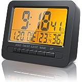 Bearware - Despertadores electrónicos Alarma de Viaje Alarma por Radio controlada por DCF - Pantalla LCD de 2,7 Pulgadas…