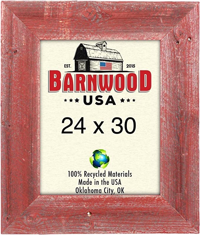 24x30 3 Plain rustic barn wood aged weathered reclaimed primitive photo picture frame 24 x 30 unfinished repurposed barnwood frames