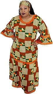 629edf6ec329c African Planet Women s Dress Queen Wedding Inspired Maxi with Gele headwrap