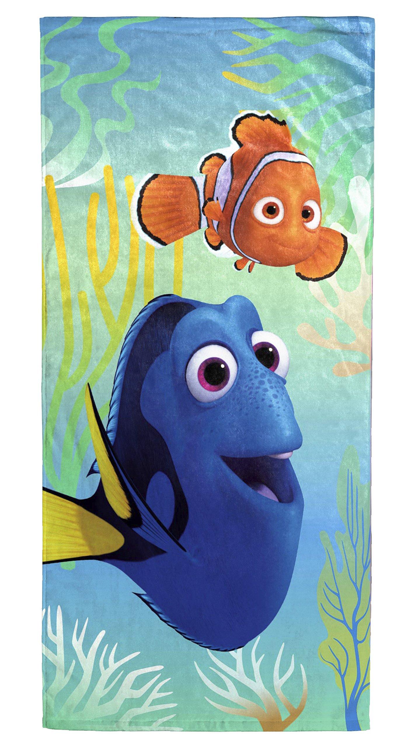 "Disney Pixar Finding Dory 'Wavy Days' Cotton Beach/Bath/Pool Towel, 28"" x 58"""