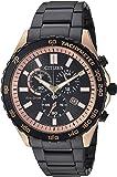 Citizen Men's 'Eco-Drive' Quartz Stainless Steel Casual Watch, Color:Black (Model: AT2125-59E)