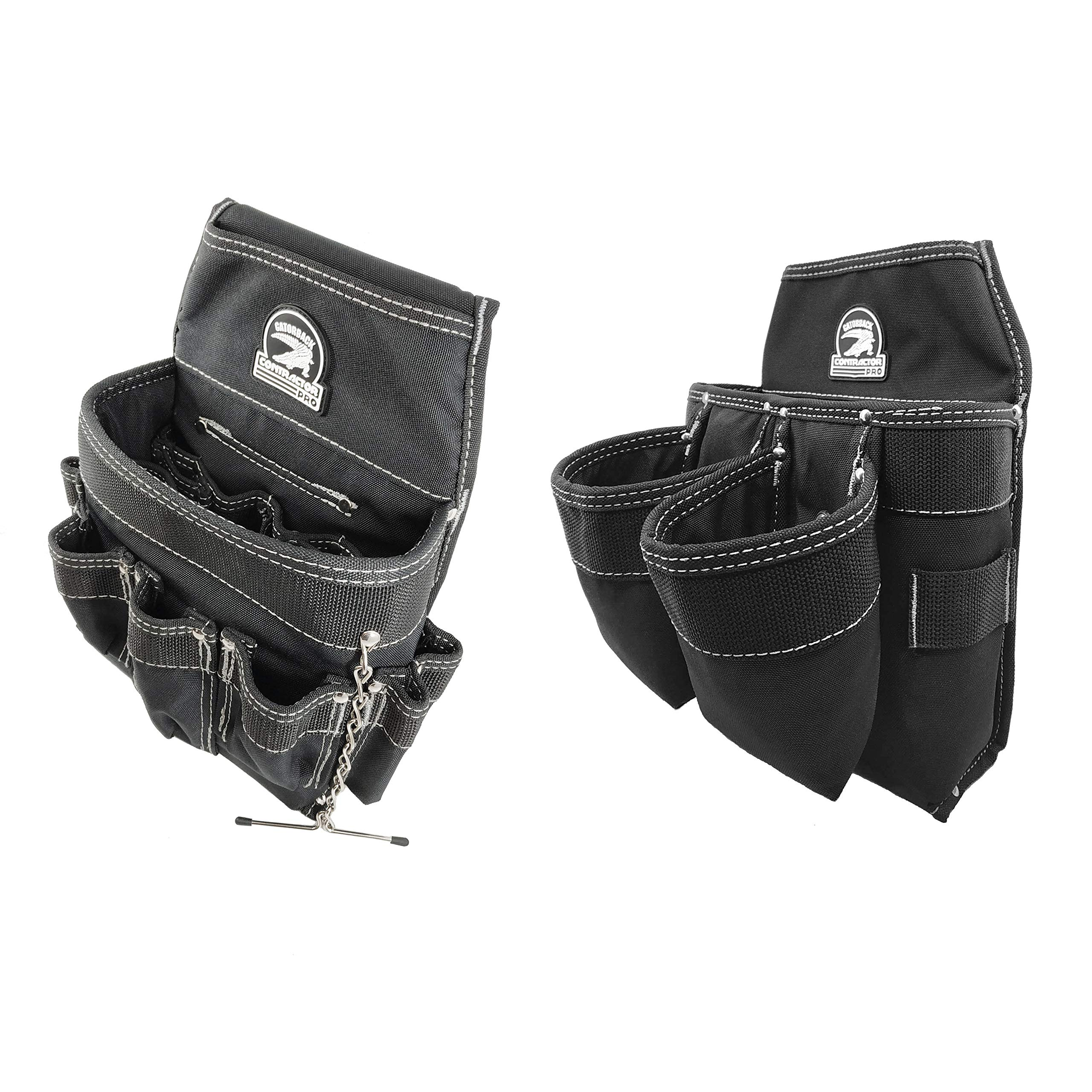 Professional Electrian's Tool and Fastener Pouch Set (tool belt ready) by Gatorback