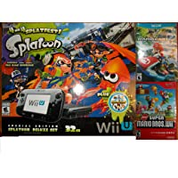 Nintendo Wii U 32GB Console Splatoon Special Edition Bundle - Black