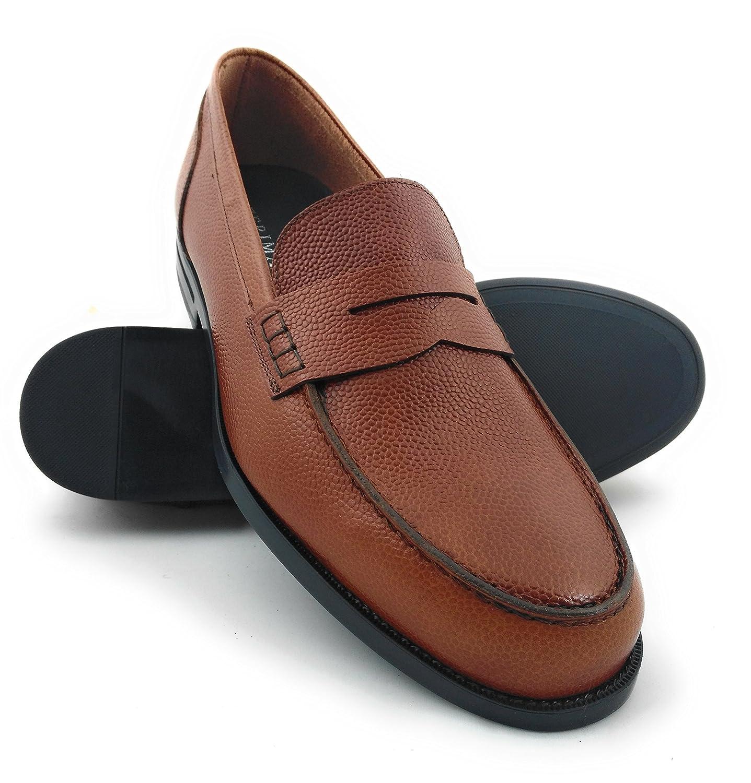 Zerimar Zapatos Castellanos Hombre | Mocasin Antifaz Hombre | Mocasines Hombre| Zapatos Hombre Vestir Color Whisky 40 EU|Whisky