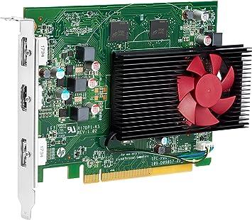 HP Tarjeta AMD Radeon RX550 4 GB 2 DP - Tarjeta gráfica