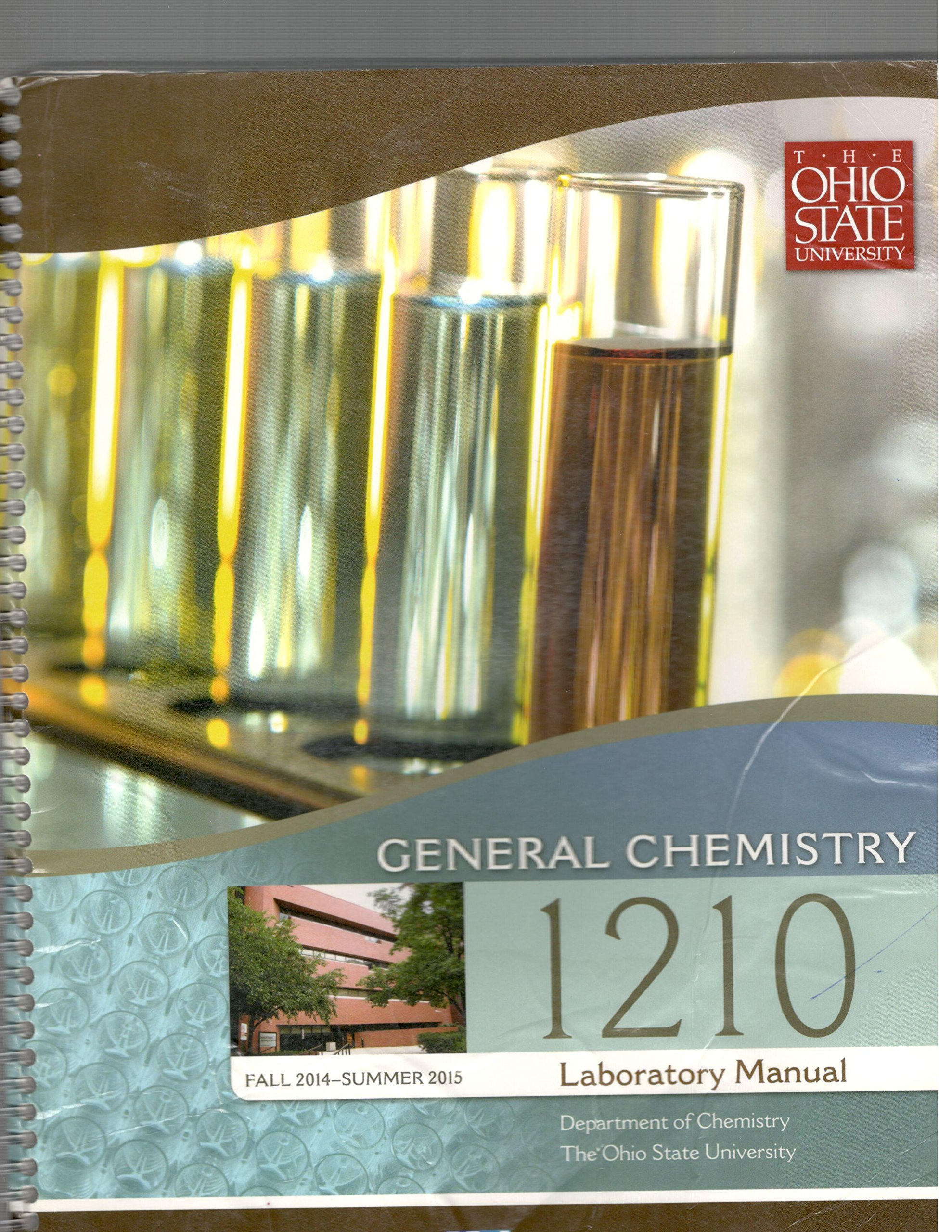 General Chemistry 1210 Laboratory Manual, The Ohio State University, Fall  2012-Summer 2013: N/A: 9780738050263: Amazon.com: Books