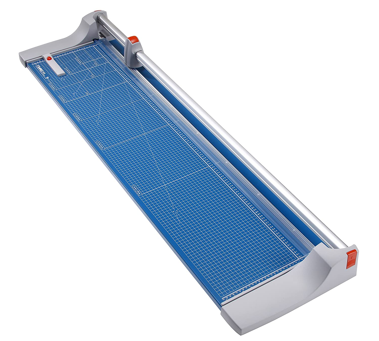 Dahle 440 Premium Rolling Trimmer, 14-1/8 Cut Length, 30 Sheet Capacity, Self-Sharpening, Automatic Clamp, German Engineered Paper Cutter 14-1/8 Cut Length 00440-21310 4007885004402
