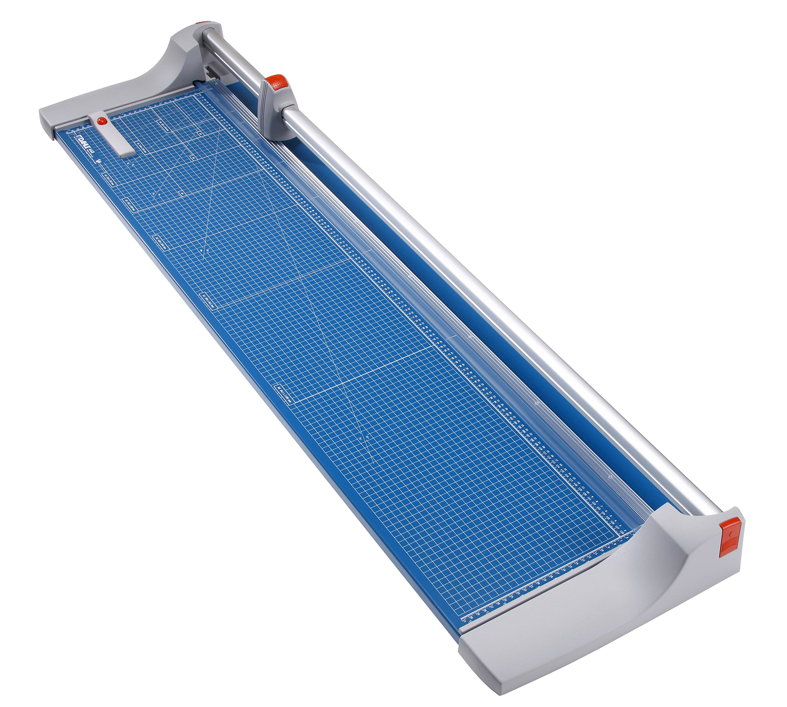 Dahle 448 Premium Rolling Trimmer, 51-1/8'' Cut Length, 20 Sheet Capacity, Self-Sharpening, Automatic Clamp, German Engineered Paper Cutter