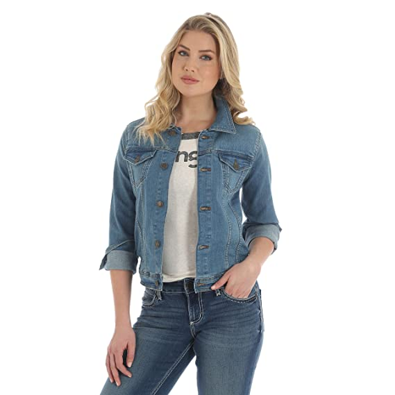 3fd16dfc58cc6 Wrangler Women s Western Denim Jacket  Amazon.co.uk  Clothing