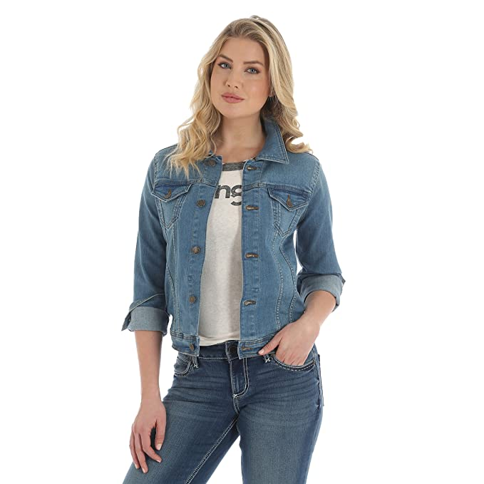 best website 5a5a3 2738f Wrangler Women's Western Denim Jacket: Amazon.in: Clothing ...