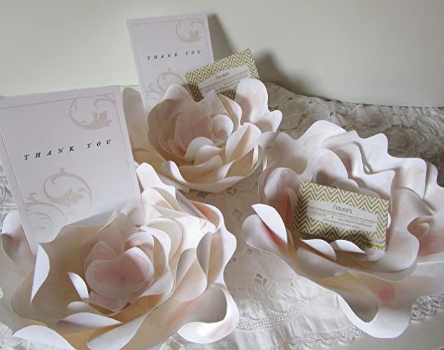 place card holders blush wedding escort cards dinner party place cards paper flower blush rose card